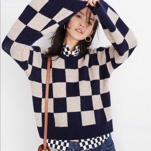 Madewell Checkered Wool Sweater